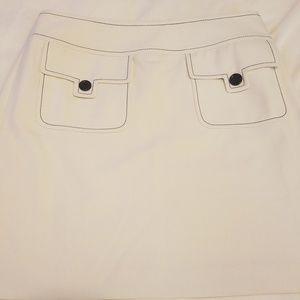 Ann Taylor loft off white skirt